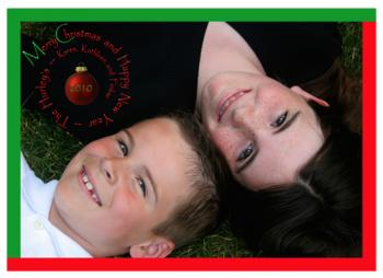 Spiral Fun Holiday Photo Cards