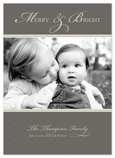 holiday photo cards - Merry & Bright by Jen Gebrosky