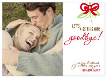 Kiss it Goodbye! Holiday Photo Cards