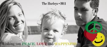Peace, Love and Happiness Holiday Photo Cards