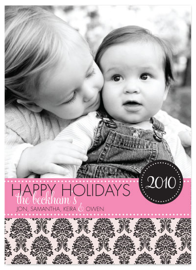 holiday photo cards - Damask Holidays by Rachael Phebus