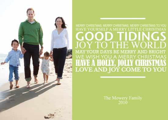 holiday photo cards - Christmas Carol Wishes by Lulu Creates