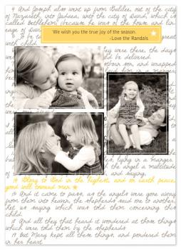 true joy Holiday Photo Cards