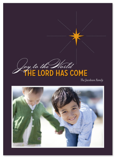holiday photo cards - Star of Bethlehem by Paper and Parcel