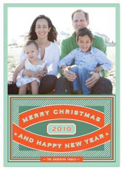 Vintage Chic Holiday Photo Cards