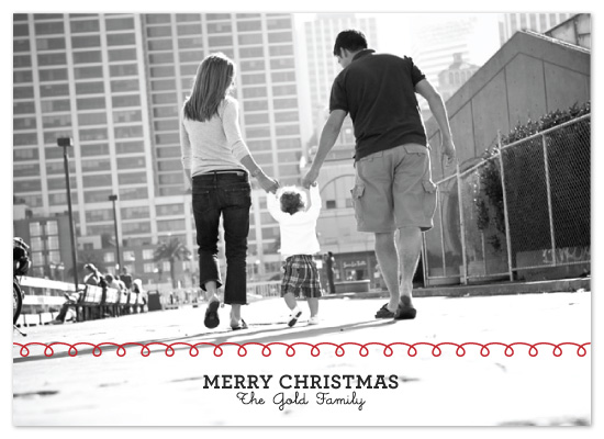 holiday photo cards - Sweet Scribbles by Saddle Stitch Studio