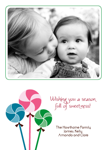 holiday photo cards - Holiday Lollipops by Green Ink
