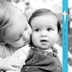 Clear Blue Star Holiday Photo Cards