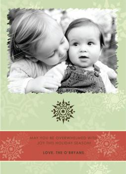 Vintage Snow Holiday Photo Cards