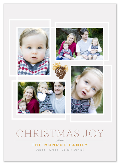 holiday photo cards - Pine Luxe by Design Lotus