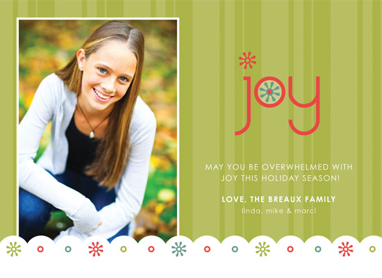 holiday photo cards - Bright Funky Holiday Joy by mango designs