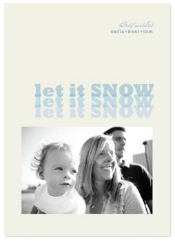 let it snow, let it snow Holiday Photo Cards