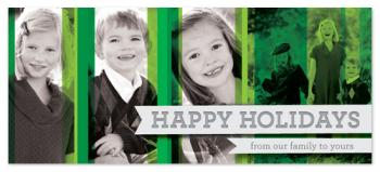 A Green Christmas Holiday Photo Cards