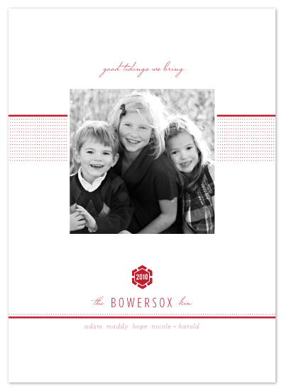 holiday photo cards - modern tidings by Design Lotus