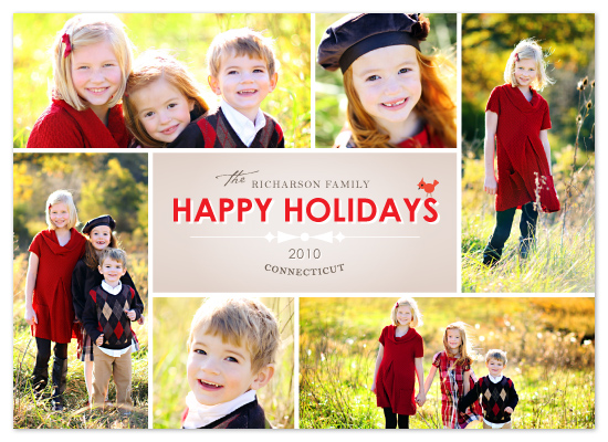 holiday photo cards - Bow Tie by Design Lotus