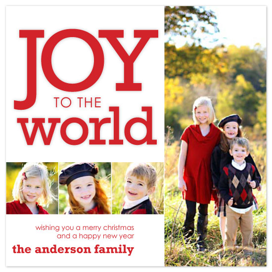 holiday photo cards - Joy to the Pictures by Katie Venti