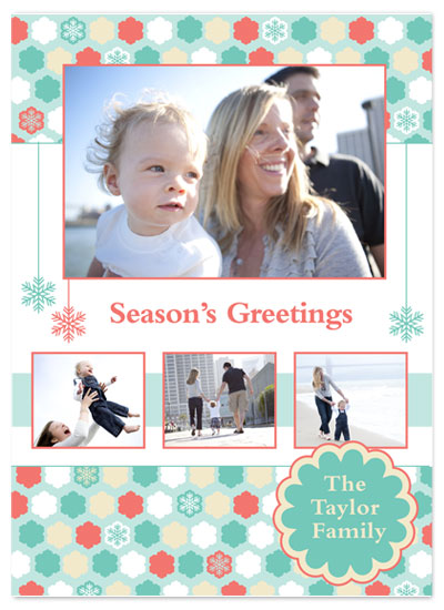 holiday photo cards - Holiday Snowflakes by Brooke Zelwin