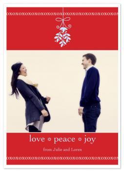 mistletoe Holiday Photo Cards