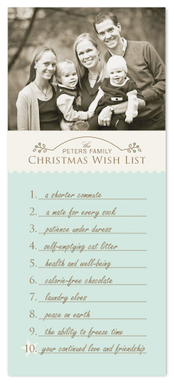 holiday photo cards - our christmas wish list by Karen Glenn