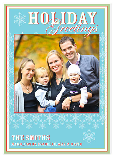 holiday photo cards - Lace Snowflake by Brooke Zelwin