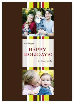 Holiday Ribbon Holiday Photo Cards