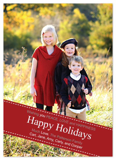 holiday photo cards - Banner Holiday by Bugaboo Announcements