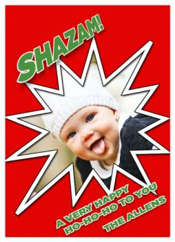 Shazam! Holiday Photo Cards