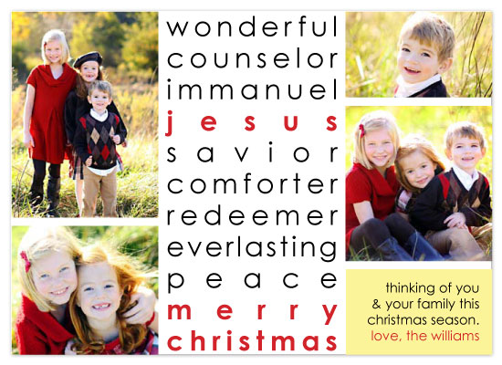 holiday photo cards - Wonderful Counselor by Katie Venti