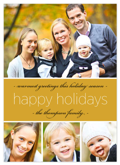 holiday photo cards - Golden Holidays by Katie Venti