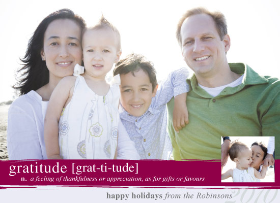 holiday photo cards - Grateful for the Holidays by Whimsical Wedding Invitations