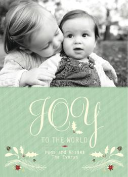 2010 joy to the world : holiday garland Holiday Photo Cards