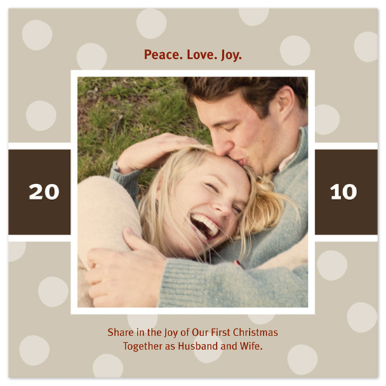 holiday photo cards - Couple's First Christmas by Sarah Leonard