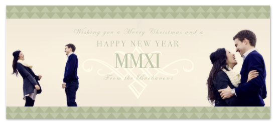 holiday photo cards - Happy MMXI by Keep 'em comin