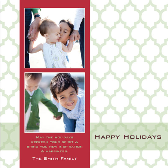 holiday photo cards - Green Moroccan Holiday by mango designs