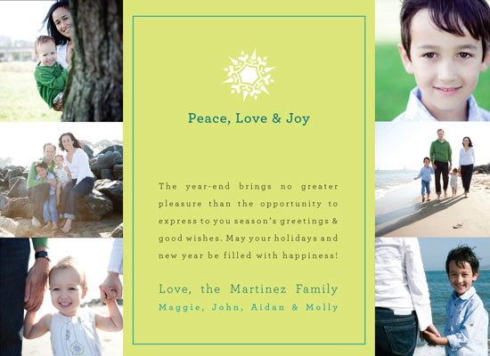 holiday photo cards - Simple Snowflake by mango designs