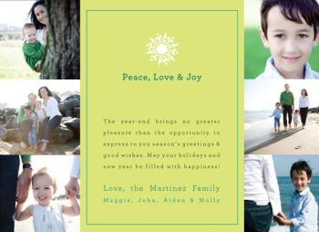 Simple Snowflake Holiday Photo Cards