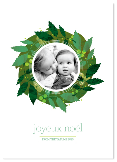 holiday photo cards - the greens by stacey day