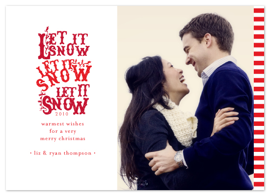 holiday photo cards - snowfall