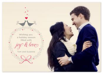 Joy and Love Holiday Photo Cards