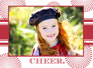holiday photo cards - Simply Cheerful by Melanie Frazier