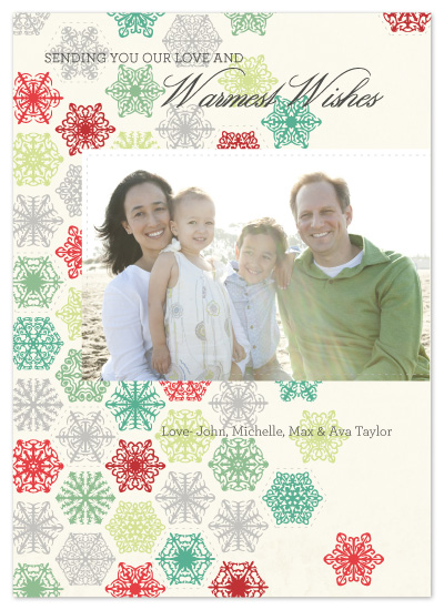 holiday photo cards - warmest wishes by sara westbrook