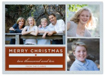 Classy Christmas Holiday Photo Cards