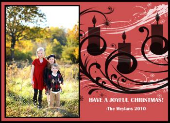 Candle  Holiday Photo Cards