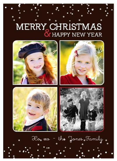 holiday photo cards - chocolate snow by sara westbrook