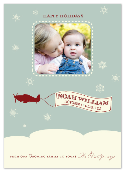 holiday photo cards - First Christmas by Noah and Olivia