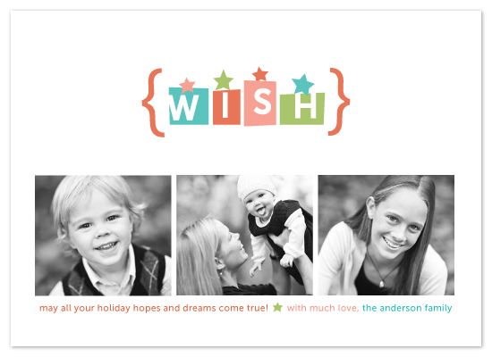 holiday photo cards - whimsical wish by Karen Glenn