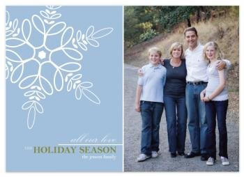 looped snowflake Holiday Photo Cards