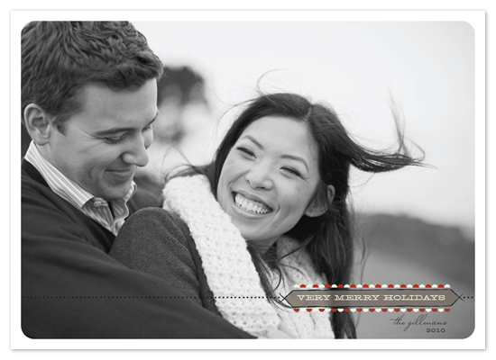 holiday photo cards - very merry holidays by Carrie Eckert