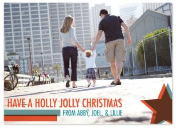 A Transparent Christmas Holiday Photo Cards