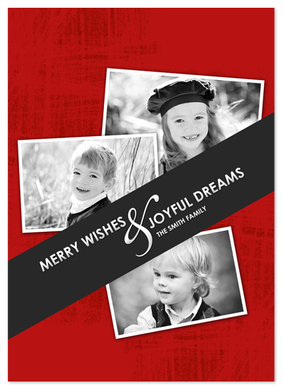 holiday photo cards - Merry wishes by Trendy Peas